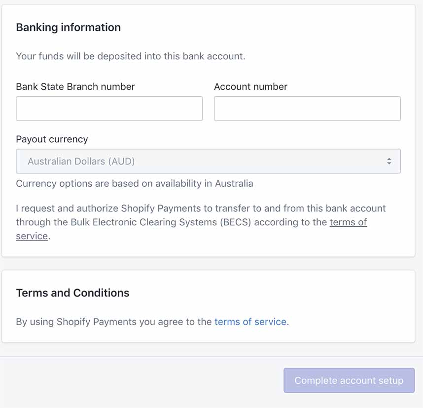 Set up Shopify Payments and Paypal