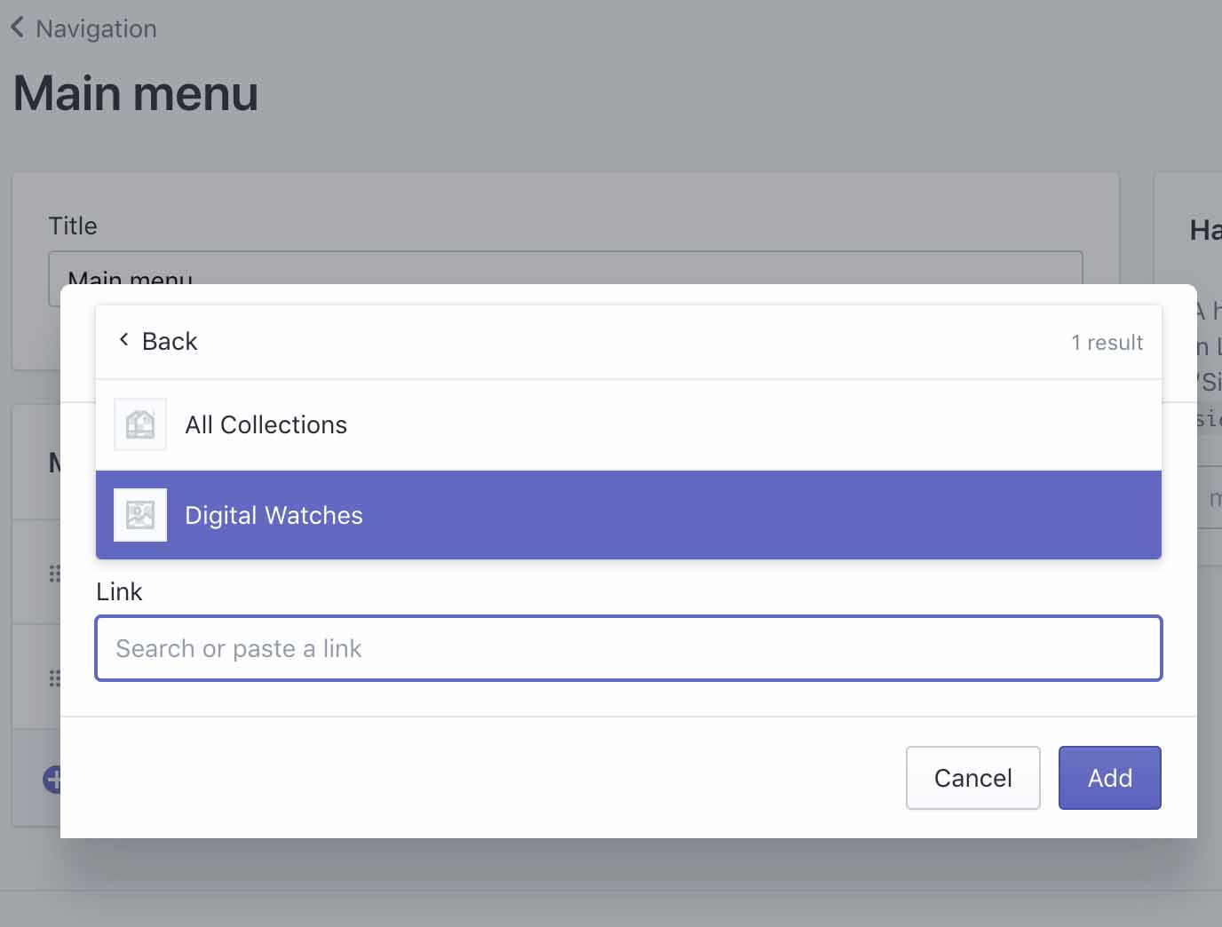 Add Menus To Your Shopify Store